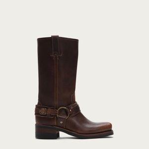 FRYE - Women Belted Harness Moto Boots Size 5.5